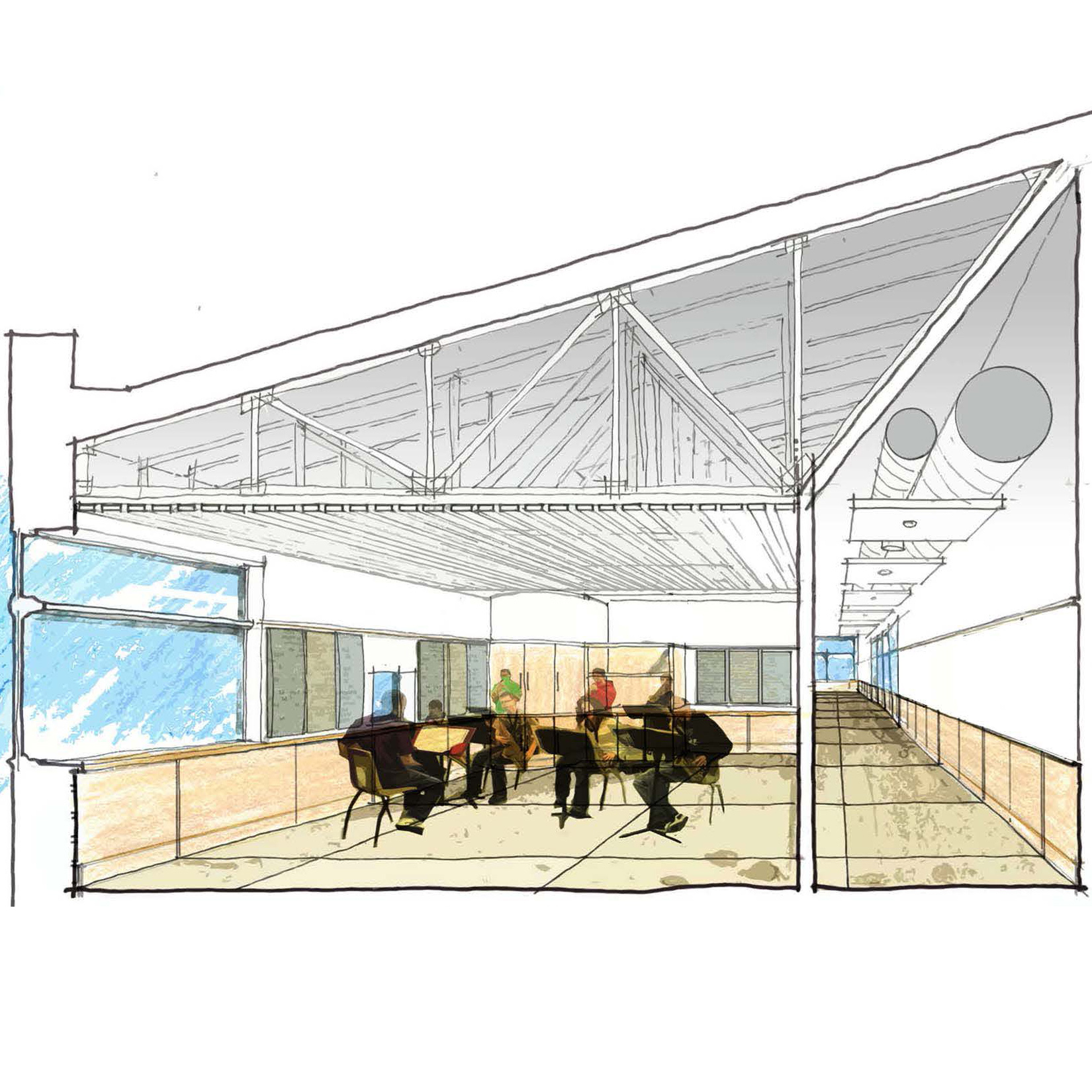 section view rendering north country school