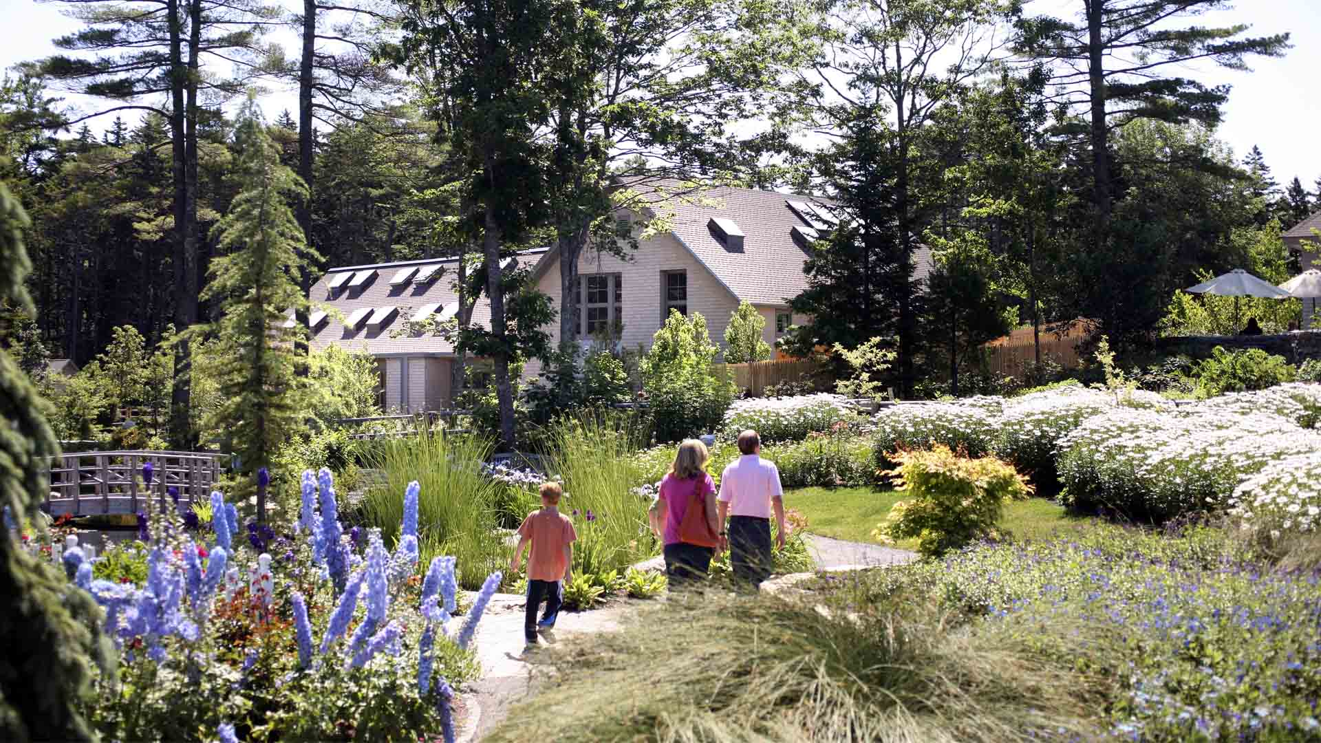 Architecture and design of Coastal Maine Botanical Gardens - Boothbay, Maine