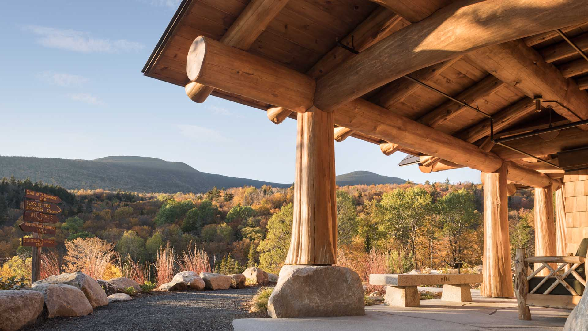 Architecture and design of Moosilauke Ravine Lodge - Warren, New Hampshire