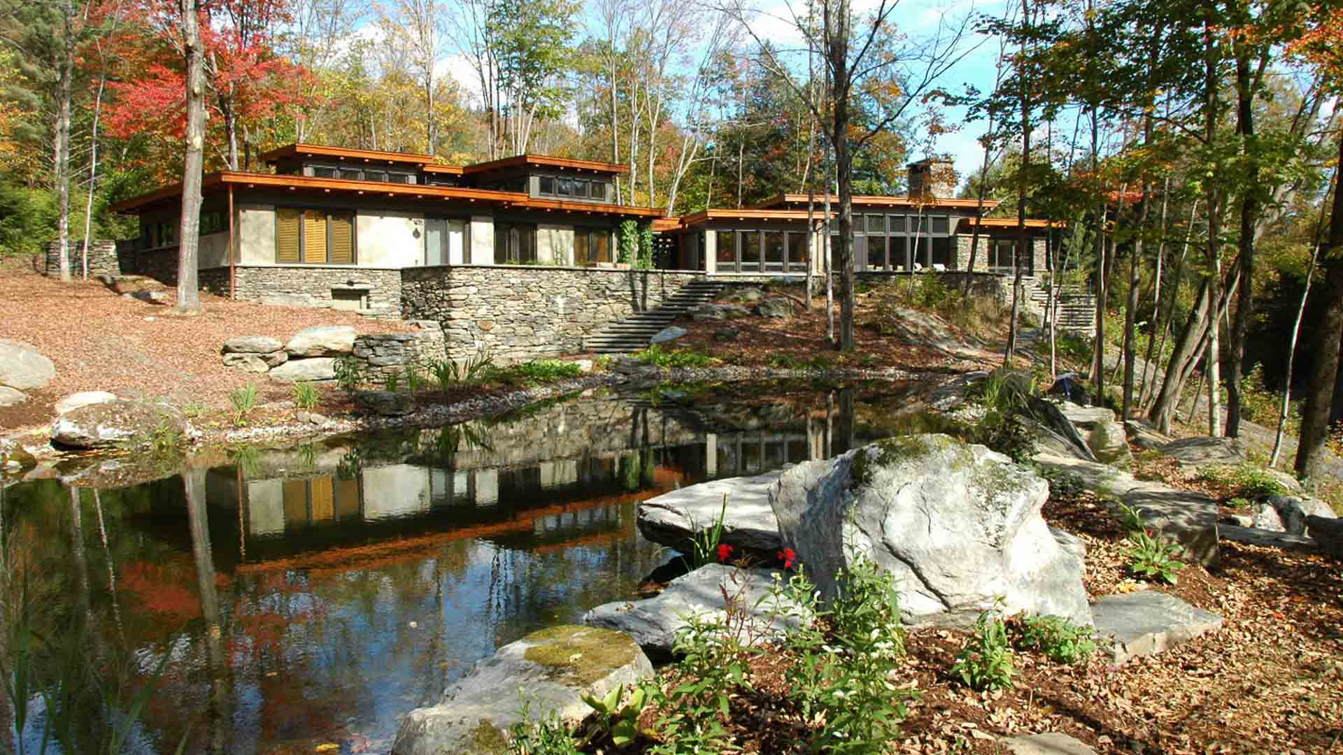 Architecture and design of River House - Middlesex, Vermont