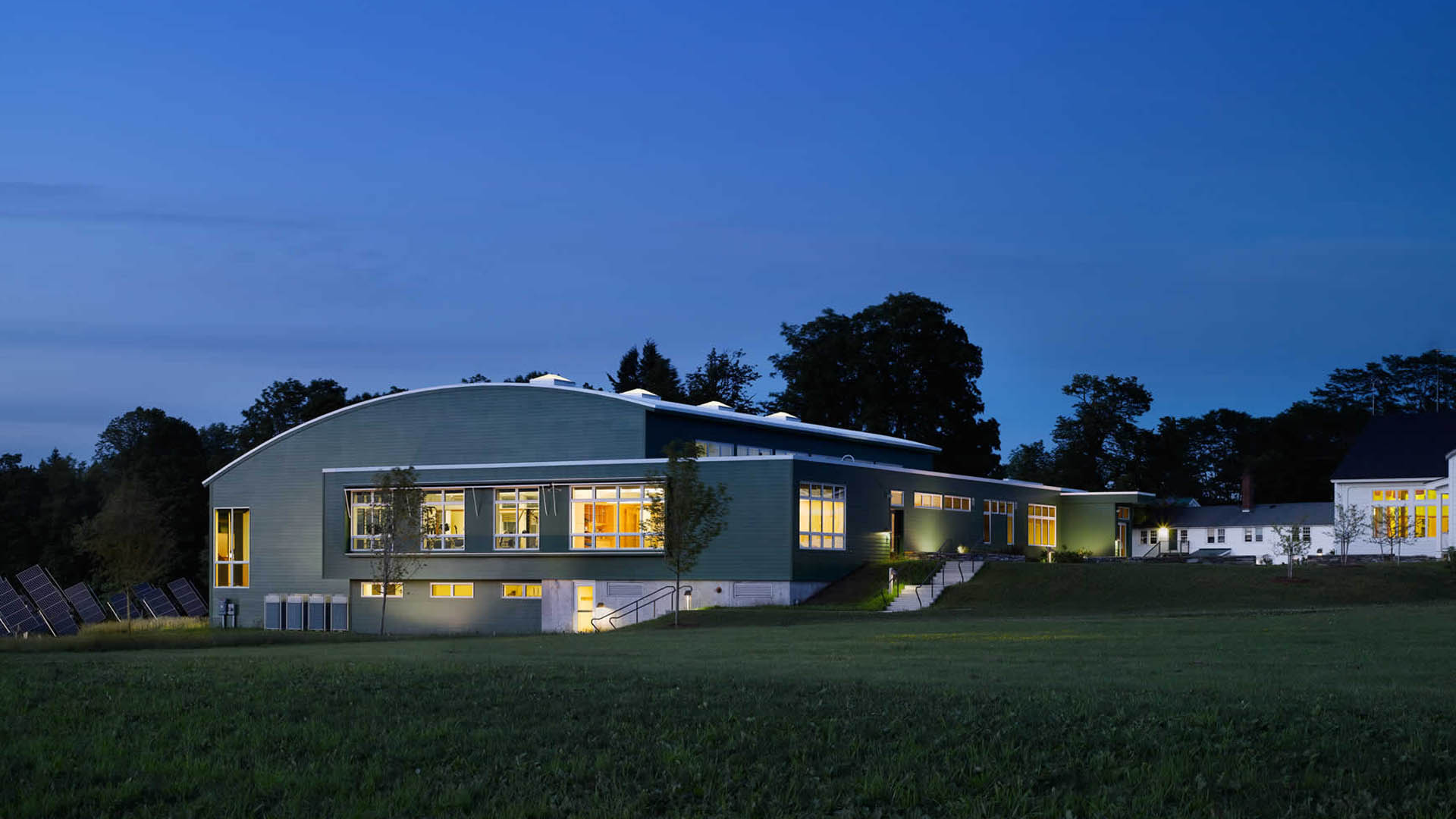 Architecture and design of The Putney School Field House - Putney, Vermont