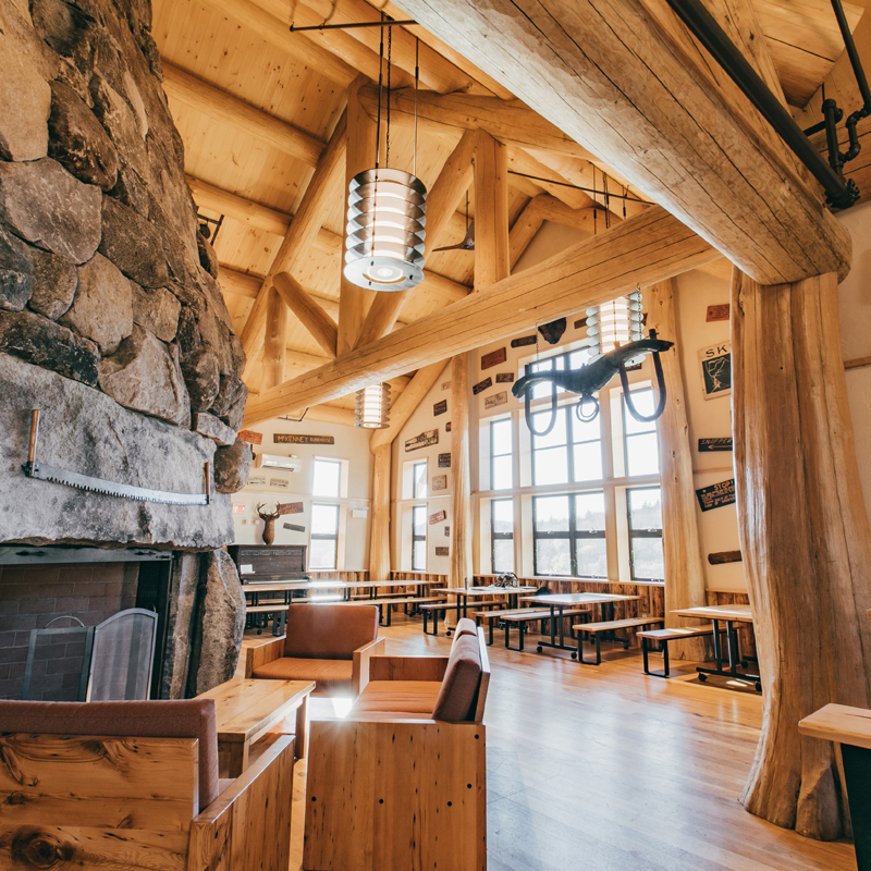 interior of Moosilauke Ravine Lodge